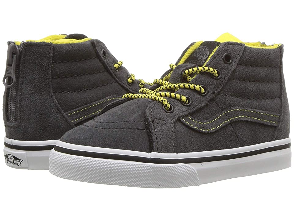 Vans Kids Sk8-Hi Zip (Infant/Toddler) ((MTE) Yellow/Gray) Boys Shoes