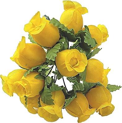 Hunter Green 144 Large Wrap Rose Wedding Flower Pick