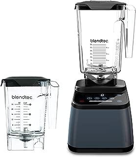 Blendtec Designer 625 Blender with WildSide+ Jar (90 oz) and Mini WildSide+ Jar (46 oz) BUNDLE, Professional-Grade Power, 4 Pre-Programmed Cycles, 6-Speeds, Sleek and Slim, Slate Grey