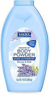 Lucky Body Powder Corn Starch Lavender 10 Oz Wholesale, (12 - Pack)