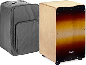 Stagg CAJ-50M SB Medium Sized Cajon with Gig Bag-Sunburst