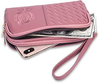 Wristlet Wallet for Women, Leather Wristlets Phone Purse Clutch for iphone 6/7/8Plus XR