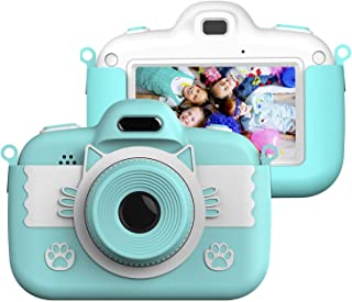 Vannico Camera voor kinderen 3,0 inch touchscreen, 8 Mpixels, voor- en achterlens, flitser, 16G TF-kaart, geschenken 3-8 j...