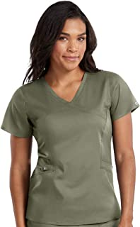 Med Couture Touch Women's Mock Wrap Scrub Top