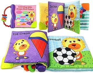 Coolplay 布えほん 赤ちゃん おもちゃ 歯固め 付き ベビー用ブック 英語 カタチ認識