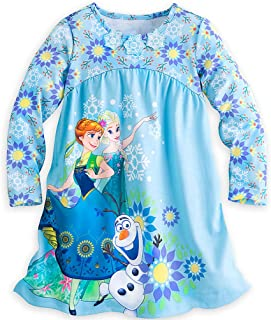 Store Frozen Anna, Elsa & Olaf Long Sleeve Nightshirt Nightgown for Girls