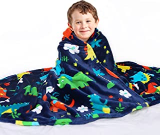 Mermaker Dinosaur Blanket for Boys, Kids Dinosaur Blankets for Boys and Girls, Cartoon Cute Dinosaur Throw Blankets for Ki...
