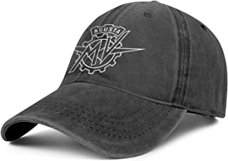 Bombline Mens Womens MV-Agusta-Motorcycle-Logo- Adjustable Retro Golf Hats Trucker Washed Dad Hat Cap