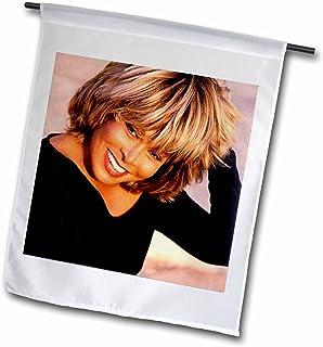 3dRose fl_3900_1 Tina Turner Garden Flag, 12 by 18-Inch