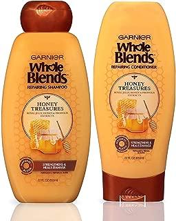 Garnier Hair Care Whole Blends Honey Treasures Repairing Shampoo and Conditioner, For Damaged Hair 44 Fl Oz