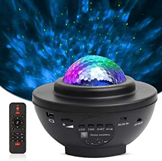 Star Projector,Night Light Projector,3 in 1 Rotating LED Nebula Cloud Light,Bluetooth Music Player,USB Powered Sound-Activ...