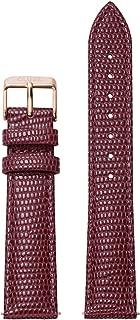 La Boheme 18 mm Deep Red Lizard Leather Strap CLS080 Fits: La Boheme, La Roche & Pavane