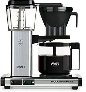 Technivorm Moccamaster KBG741 10-Cup 40oz Handmade Coffee Brewer - Polished Silver