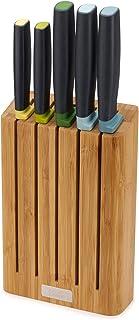 Joseph Joseph Elevate Knives Bamboo Ensemble de 5 couteaux Elevate avec bloc en bambou peu encombrant