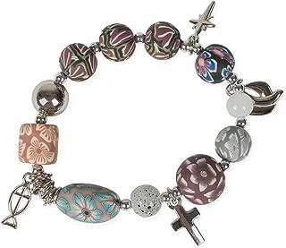 Story of Jesus Christ Clay Floral One Size Adult's Stretch Fashion Bracelet