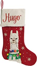 The Christmas Cart Personalised Gifts & Keepsakes Personalised Boy Llama Stocking, Christmas Décor to Display on Mantle or...