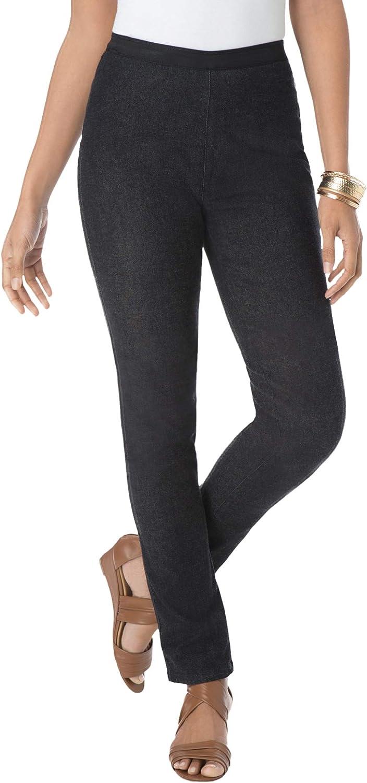 Jessica London Women's Plus Size Tall Straight Leg Stretch Denim Jeggings Jeans Legging