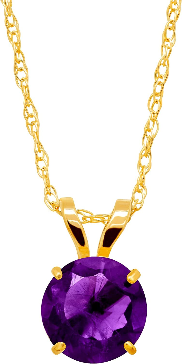 Round-Cut Solitaire Pendant Necklace 10K 新作多数 出群 in Gold
