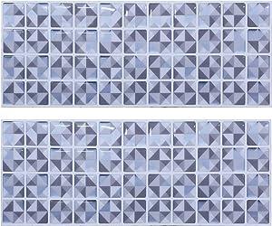 Beaustile Mosaic 3D Wall Sticker Home Decor T Blue Fire Retardant Backsplash Wallpaper Bathroom Kitchen DIY Design