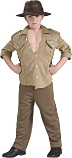 Indiana Jones and the Kingdom of the Crystal Skull Deluxe Muscle Chest Indiana Costume, Children's Medium