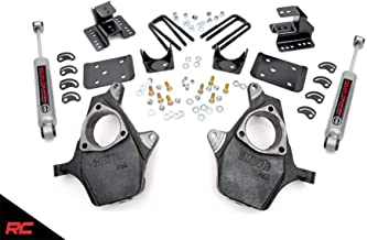 Rough Country Lowering Kit Compatible w/ 2007-2014 Chevy Silverado GMC Sierra 1500 2WD 2