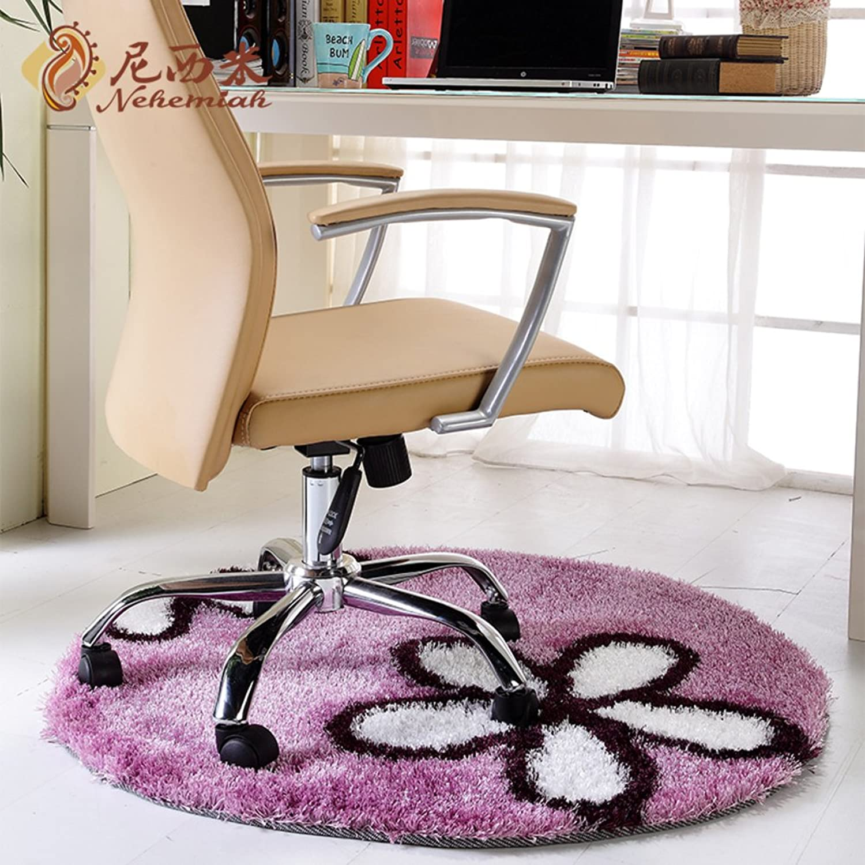 Round Mats Living Room,Bedroom,Study,Floor Mat Office Chair Cushion Cushion For Computer Chair  Non-slip Mat-C diameter100cm(39inch)