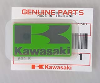 Kawasaki 56054-1433 - Genuine Original Kawasaki ' K ' Mark Sticker Decal Green / Silver 42MM X 24MM