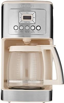 Cuisinart DCC-3200 Programmable CoffeemakerwithGlass Carafe and Stainless Steel Handle, 14 Cup, Cream