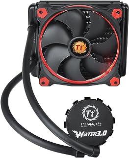 Thermaltake Water 3.0 Riing Red 140 - Ventilador de CPU (14 cm, 1500 RPM, 26.4 dB, 40.6 cfm) color rojo