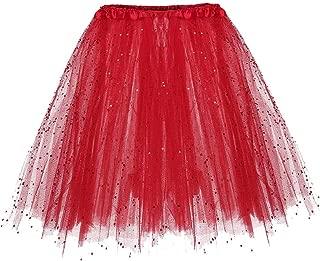 VEMOW Elegante Damen Tutu Petticoat Womens Karneval Short Rock Plissee Gaze Kurzen Rock Erwachsene Tutu Tanzen Rock für Rockabilly Kleid