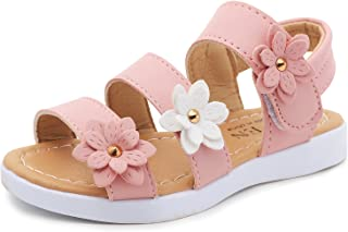 Aiminila Girls Flowers Beach Sandals Summer Casual Walking Shoes(Toddler/Little Kid)