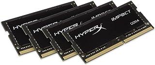 ذاكرة الكمبيوتر المحمول SODIMM ذات 260-Pin Technology Impact 32GB 2666MHz DDR4 CL15 260-Pin 64GB Kit (4 x 16GB) HX421S14IB...
