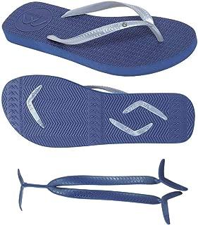 Boomerangz Slim Fit Flip Flops (Women's) Colour: Navy + Interchangeable Straps (Additional) [Combo Offer]