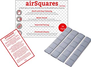 AirSquares Gunk Remover for AirPods and Other Electronic Devices (24 Pack). Gets rid of Ear Wax and Other goo in Any Device with Small crevices. Compatible with Apple AirPods/Earphones/Earbuds/Ear