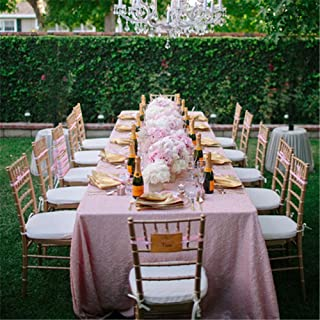 B-COOL Pink 60x102 Inch tablecloth Wedding Sequin Table Overlay Sequin Table Linens RECTANGULAR