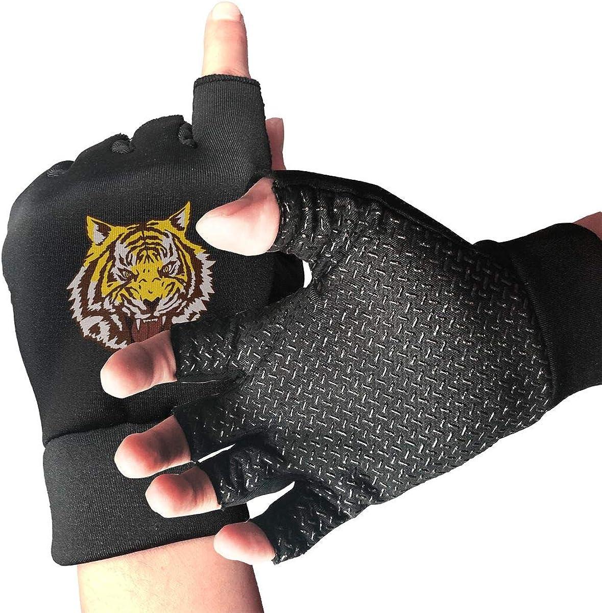Gloves Yuri Plisetsky Tiger Fingerless Gloves Short Touchscreen Gloves Winter Motorcycle Biker Mitten