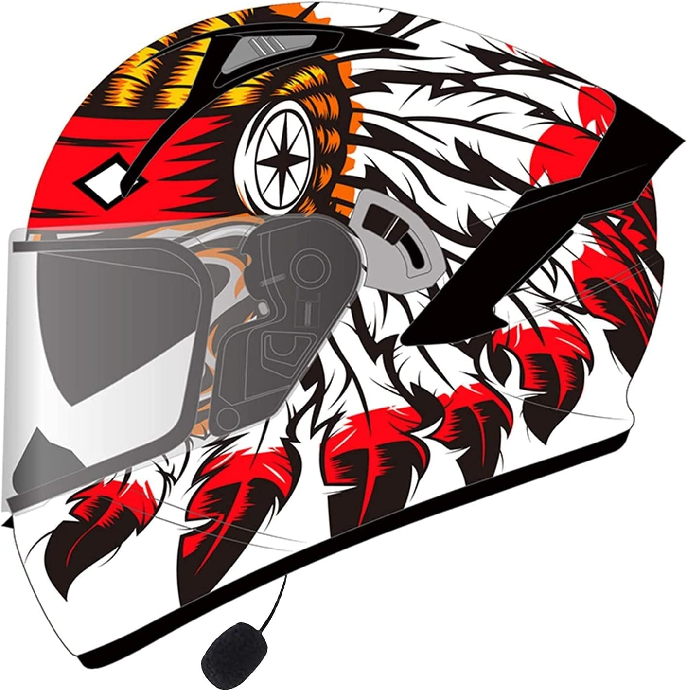 TKTTBD Motorcycle Bluetooth Helmets Full OFFicial mail order Dual Tucson Mall Face Flip Visor Up