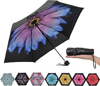 Ke.movan Travel Compact Umbrella Mini Sun & Rain Umbrella Ultra Light for Carry On - Fits Men & Women, Gift Choice