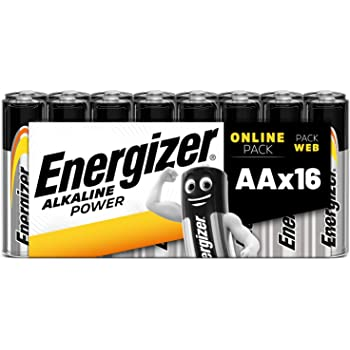 Energizer Alcaline Power Batterie Aa, 16 Pezzi