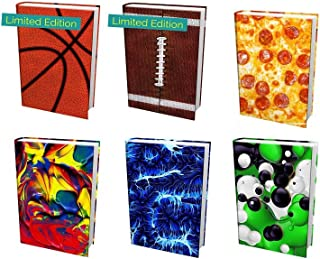from The Original Home of Book Sox - 6 Nice Selections of Assorted Jumbo Prints Stretchable Book Covers. Including 2 Limited Editions (Basketball and Football)