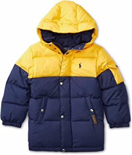Polo Ralph Lauren Two Toned Hooded Quilted Down Parka Coat Jacket Boys 2 2T
