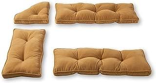 Greendale Home Fashions Cherokee Solid Microfiber Nook Cushion Set, Khaki ,Pack of 4.