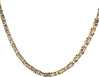 Two-Tone Byzantine Chain Necklace (4.5 mm) - 24