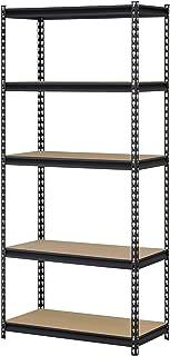 Edsal UR341472BLK Steel Storage Rack, 5 Adjustable Shelves, 3200 lb. Capacity, 72