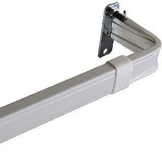 Rod Desyne Lockseam 2-Inch Clearance Window Curtain Rod, 28 to 48-Inch