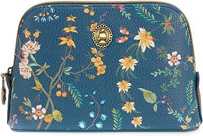 Cosmetic Bag Triangle Small Petites Fleurs Dark Blue 19/15x12x6cm