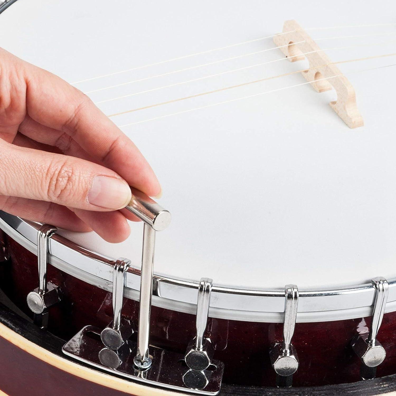 Sapele Banjo String Instrument Top Grade Exquisite Professional Sapelli Notopleura Wood Alloy 6-string Banjo Affordable Musical Instrument Beginner Kit
