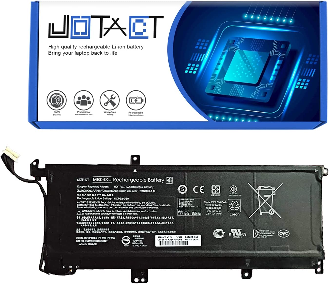 JOTACT MB04XL HSTNN-UB6X(15.4V 4-Cell) Ranking TOP4 55.67Wh 3470mAh Courier shipping free shipping