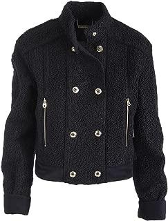 Juicy Couture Women's Designer Logo Black Label $289 Black Faux Shearling Jacket SZ L NWT