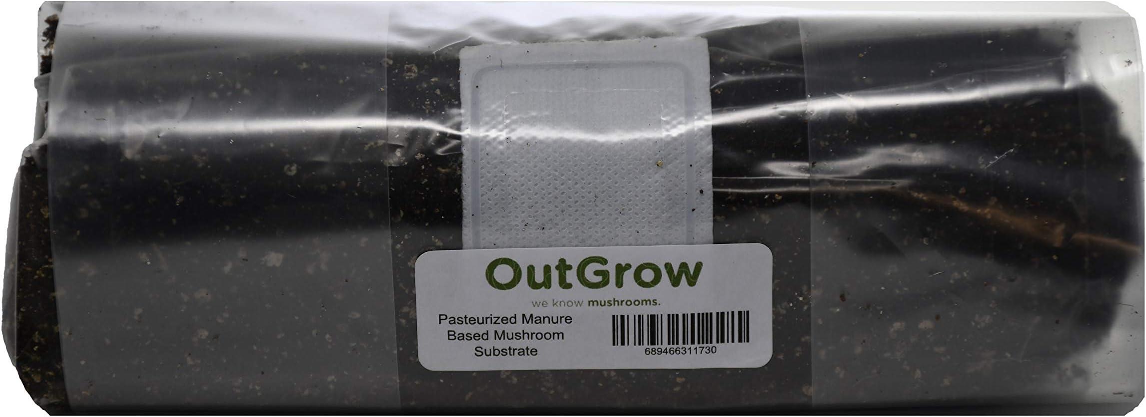 4 lb sterilized manure based mushroom substrate in filter bag.